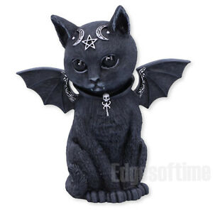 MALPUSS-WINGED-OCCULT-CAT-FIGURINE-ORNAMENT-WITCH-MAGIC-SPELL-PAGAN-GOTHIC-11CM