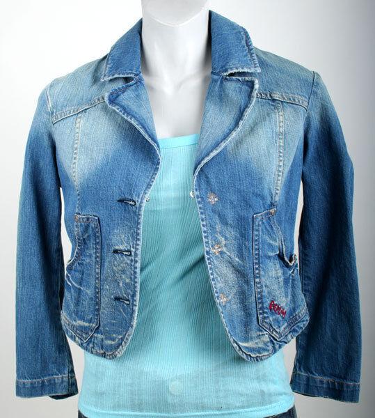 ReJugar chaqueta vaquera  w7467 denim azul  presentando toda la última moda de la calle