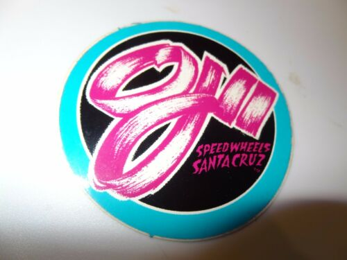 80/'s vtg Skateboard sticker original print in blue SANTA CRUZ SPEED WHEELS