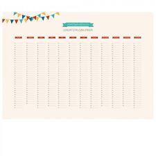 Immerwährender Wandkalender DIN A2 Geburtstagskalender Jahresplaner banjado 2017