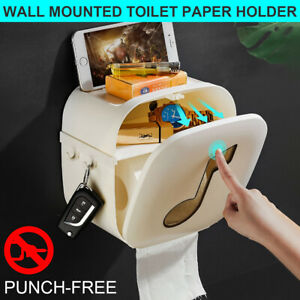 Toilet Tissue Roll Wall Mounted Holder Bathroom Waterproof Paper Drawer Box