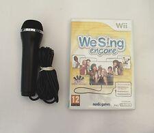 WE SING ENCORE AND1 KARAOKE MICROPHONE WII PAL