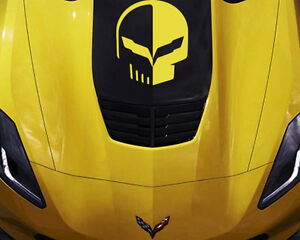 Chevy-Corvette-Hood-Decal-Vinyl-Sticker-Jake-Logo-C5-C6-C7-ZO6-ZR1-Stingray