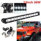 Universal 13inch 36W LED Light Work Bar SUV 4WD Offroad Driving Lamp Spotlight