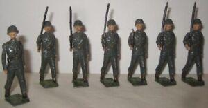 7 Antique Metal Toy Solrs W S