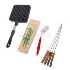16 Molds TAKOYAKI Grill pan maker cooking plate stove machine food recipe