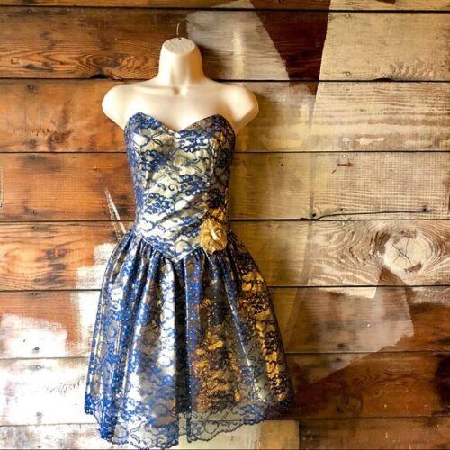 Vintage Jessica McClintock Gunnie Sax Mini Dress