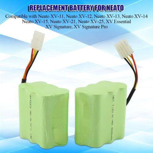 2x4000mAh 7.2V Battery For Neato XV-11 XV-13 XV-15 XV-21 XV-25 945-0005 205-0001