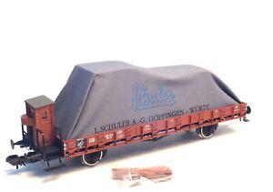 Marklin-Scale-Gauge-1-Museums-Flat-Stake-car-Era-III-wagon-Breakman-039-s-cab