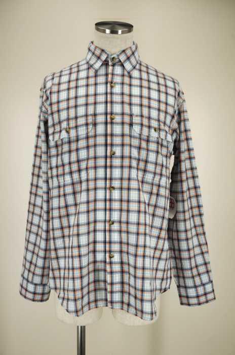 The North Face MEN's Shirt White & orange & bluee
