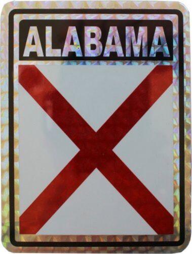 State of Alabama Flag Reflective Decal Bumper Sticker