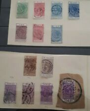 New Zealand - Nice range 1880's / 1890's QV long stamp duty to 10 Pounds Used