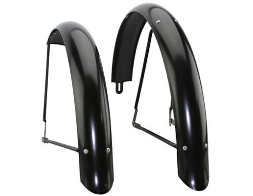 "NEW Bicycle Fender 26/"" Beach Cruiser Flared Adjustable Fender Black Ducktail"