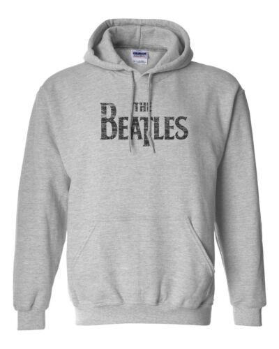 The Beatles Distressed Mccartney Custom Gildan Hooded Sweater Hoodie-Sport Gray