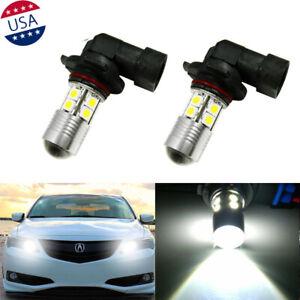2x-9005-6000K-White-LED-Daytime-Running-Light-Bulbs-For-Acura-ILX-TSX-MDX-TL-RL