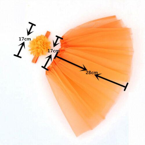Tutu Skirt Photo Prop Photography Costume Gifts Newborn Baby Flower Headband