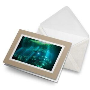 Greetings-Card-Biege-Scuba-Diving-Diver-Mexico-Cave-Dive-24164
