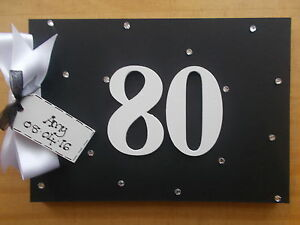 80th birthday guest book or scrapbook personalised any name quick
