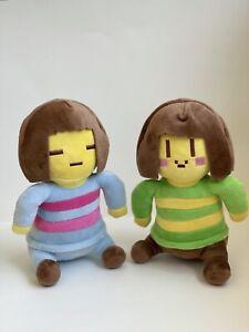 "2pcs//Set 8/"" Undertale Frisk and Chara Soft Plush Doll Stuffed Toy Kids Gift Cute"