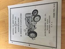 Allis Chalmers Allis Chalmers 60 Series Parts B Cultivator Tractor Manual