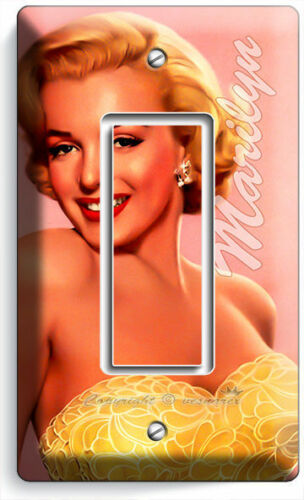MARILYN MONROE SMILE GOLD DRESS SINGLE GFCI DECORA LIGHT SWITCH WALL PLATE COVER
