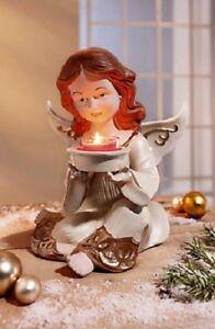Teelichthalter-Engel-Kerzenhalter-Weihnachten-Dekoratikon-Deko-Figur-NEU