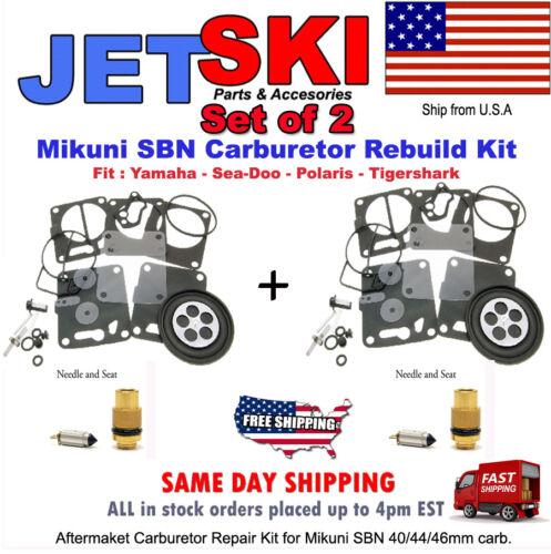 TWO Seadoo 800 XP Carburetor Rebuild Kit 1991-1997 Needle and Seat include