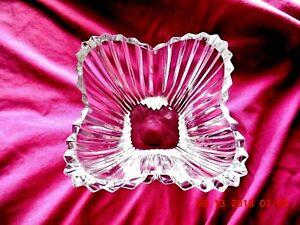 Vintage-Orrefors-Sweden-Cut-Crystal-Vase-Center-piece-6-034-x-4-034