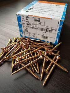Spanplattenschrauben-4-8mm-Torx-gelb-Verzinkt-Holzschrauben-14592