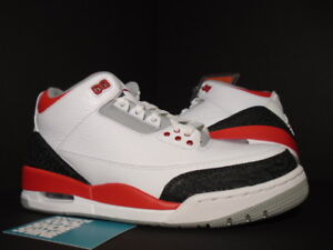 2013 Nike Air Jordan III 3 Retro WHITE FIRE RED BLACK CEMENT GREY 136064-120 12
