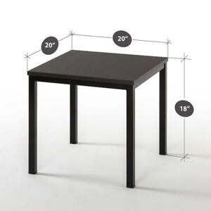 Details about Black End Table Living Room Side Coffee Metal Frame Furniture  Night Stand Bed