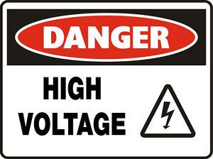 Danger Signs High Voltage Symbol Ebay