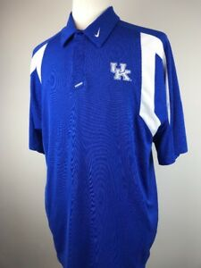 70310677 NIKE Medium Kentucky Coaches Sideline Men's Polo Shirt Blue UK XL | eBay