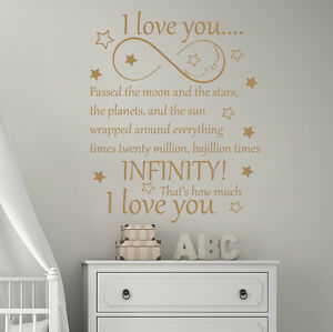Infinity Symbol Wall Decals Passed The Moon And The Stars Quotes