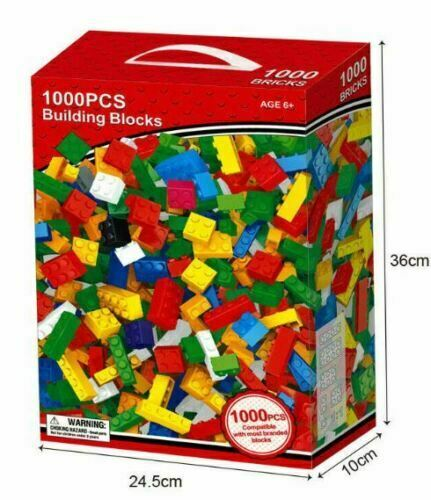 1000 Pcs Multicoloured Children Kids Educational Creative Building Blocks Toys
