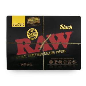 Desk Mouse Pad 42cm x 30cm Black RAW BLACK Counter Change Mat Large