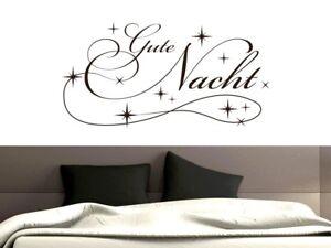 Wandtattoo für Schlafzimmer Wandtatoo Aufkleber Sprüche Gute Nacht ...