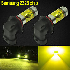 2x 9006 HB4 Samsung 2323 100W LED High Power 4300K Yellow Fog/Driving light Bulb