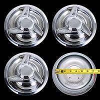 4 Chevy Gm 3 Bar Spinners Rally Wheel Center Hub Caps Rim 5 Lug Nut Covers