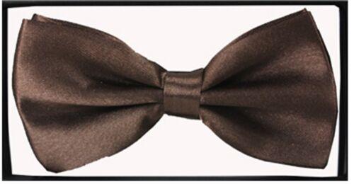 PreTied Classique Nœud Papillon Pure Plain Neckwear Réglable Hommes Bow Tie Tuxedo