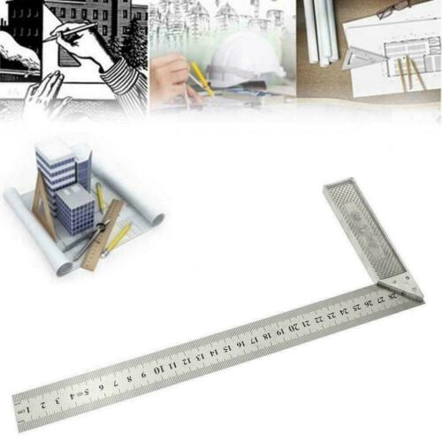 Steel L-Square Angle Ruler 90° Ruler For Woodworking Carpenter Top Tool I7Z2