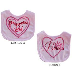 1 X Bébé Fille Soft Touch Rose Princesse Bib Choix De Design-afficher Le Titre D'origine Riche En Splendeur PoéTique Et Picturale