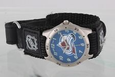 NHL COLO AVALANCHE GAME TIME FUTURE STAR SERIES HOOK/ LOOP BLUE DIAL WATCH 1839B