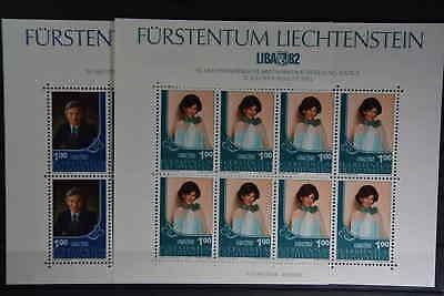 N6 Liechtenstein 797/798 Kleinbogensatz Postfrisch 15