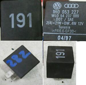 vw golf 3 2 relais 191 1h0953227 intervallrelais blinker. Black Bedroom Furniture Sets. Home Design Ideas