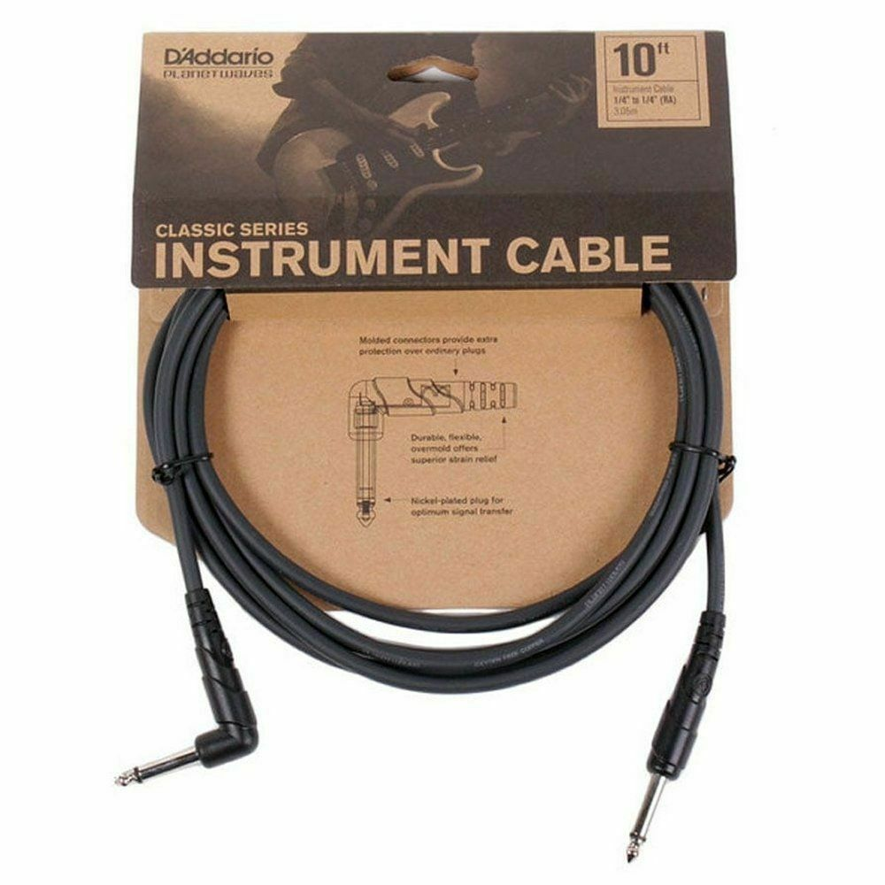 Planet Waves CGTRA10 Classic Series 1//4 inch Cable Right Angle
