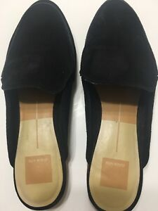 85be80b204a Image is loading Dolce-Vita-Womens-Suede-Black-Flats-Loafers-Mules-