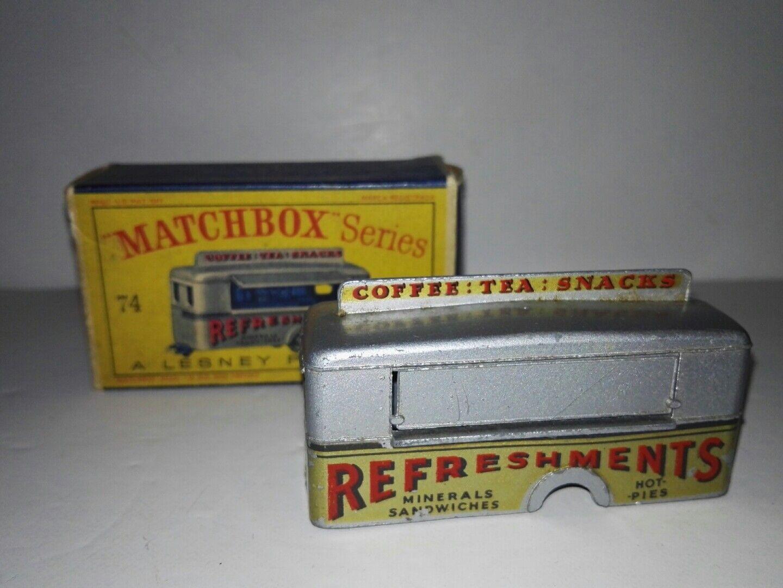 Matchbox 74a mobile erfrischungen bar lesney mit original - box äußerst selten