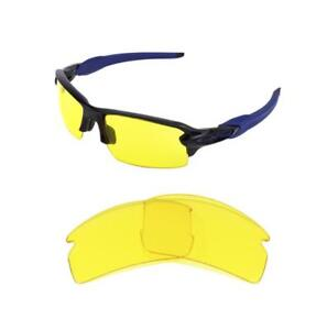 NEW REPLACEMENT NIGHT VISION YELLOW LENS FOR OAKLEY FLAK JACKET 2.0 ... 5848f38cc98e