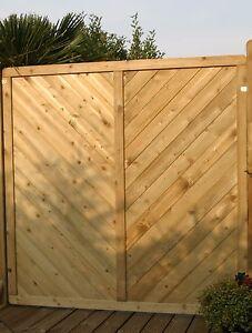 5 Stück Dichtzaun Massiv Classic 180x180 Sichtschutzzaun Holz Zaun